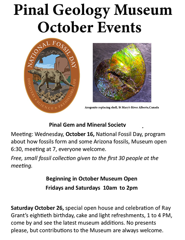 October 2019 event flyer
